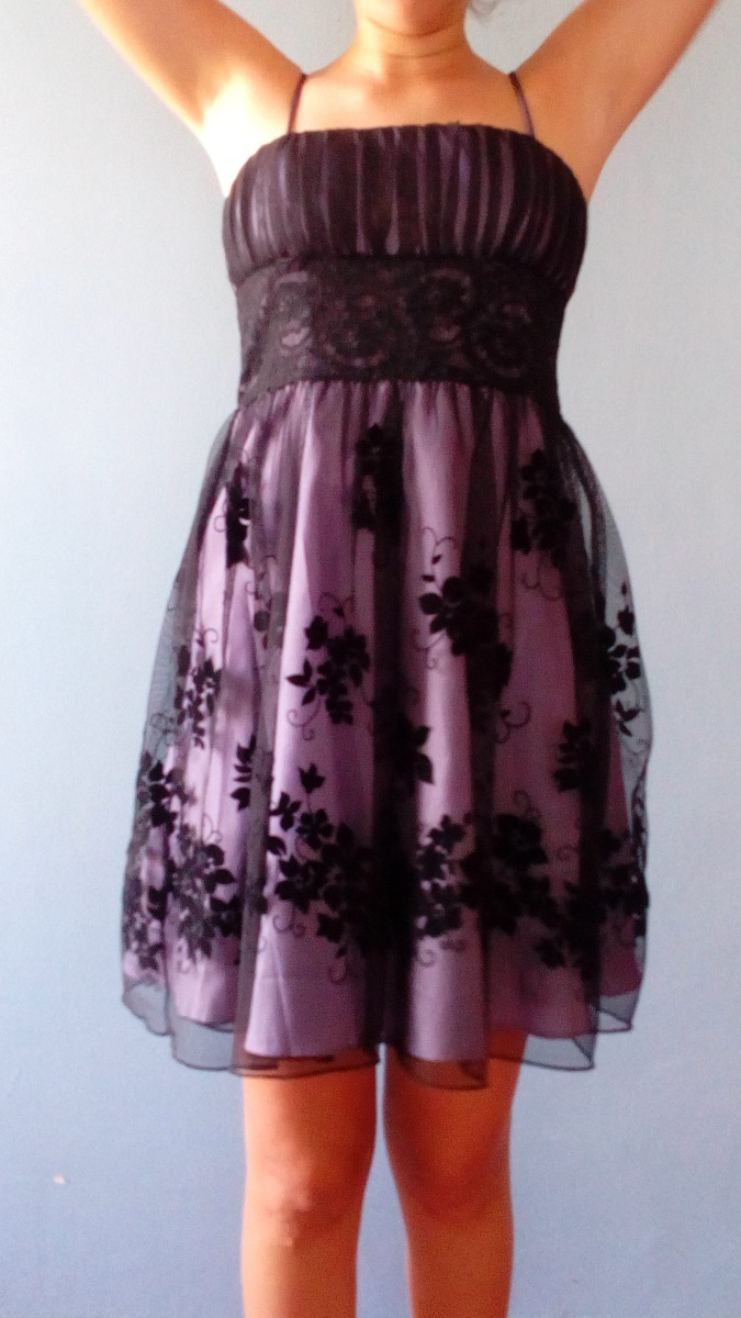Vestido De Fiesta Morado Con Encaje Dama - Bs. 6.000.000,00 en ...