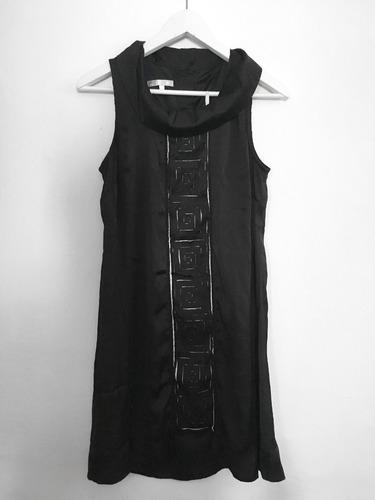 vestido de fiesta negro de seda talle m