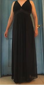 Vestido De Fiesta Negro Elegante Y Sofisticado