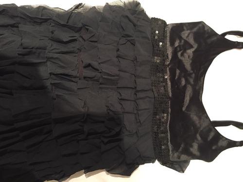 vestido de fiesta negro largo. talle s