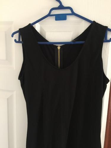 vestido de fiesta  negro talla m marca ash