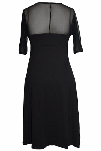 vestido de fiesta negro tallas extras talla extra plus manga