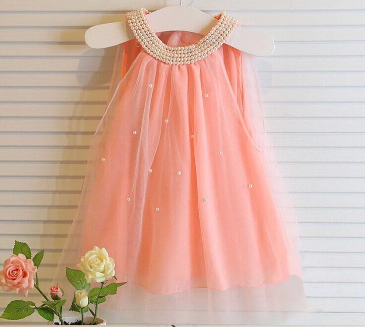 Vestido De Fiesta Nena De Tul Con Perlas En El Escote - $ 570,00 en ...