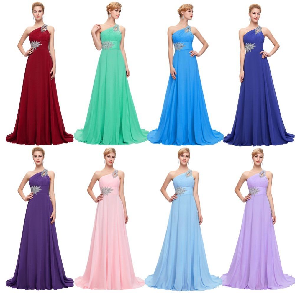 9742430e7 Vestido De Fiesta Noche Boda Dama Grace Karin Azul Turquesa -   2
