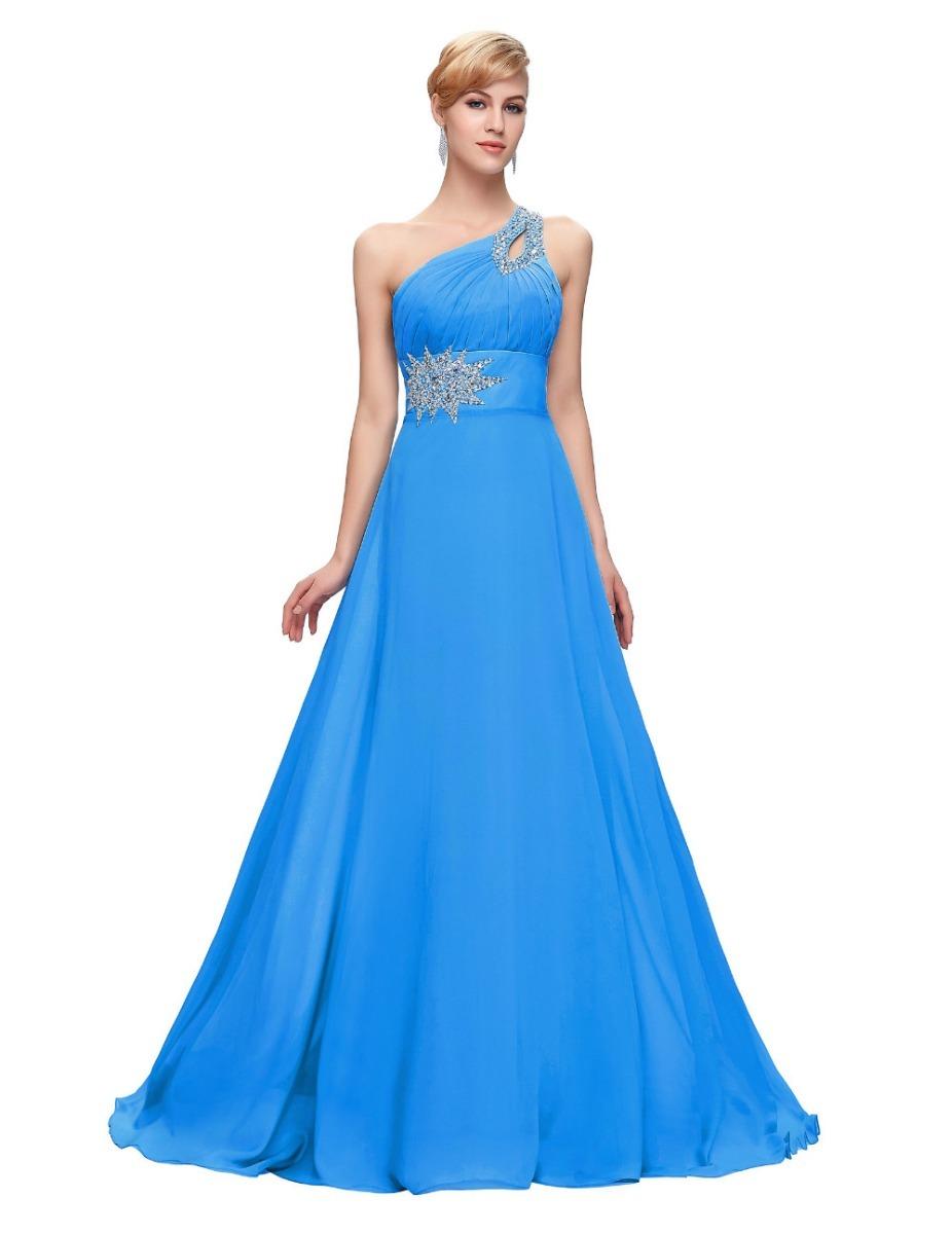 1e33520ba Vestido De Fiesta Noche Boda Dama Grace Karin Azul Turquesa ...