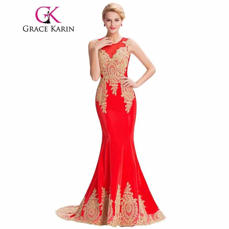 Vestidos de fiesta de noche rojos