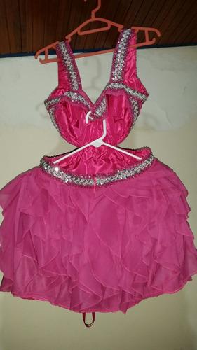 vestido de fiesta o para quinceañera corto talla m.