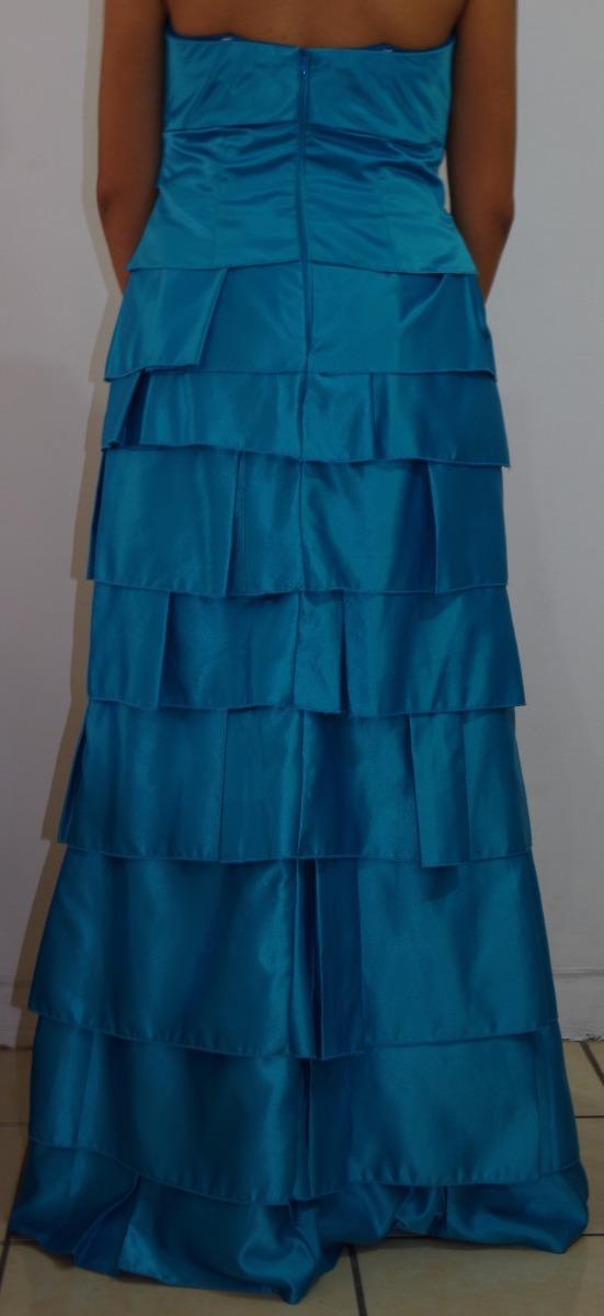 fb1f596f4d Vestido De Fiesta Para Mujer Color Turquesa -   369.00 en Mercado Libre