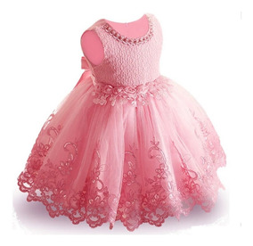 9ce18de9e Vestido De Fiesta Para Niña Elegante Boda Rosa Y Lila T 3-6