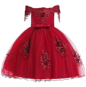 Vestido De Fiesta Para Niña Elegante Vestido Boda Niña T4 8