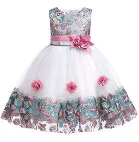 4ef0b0df1 Vestido De Fiesta Para Niña Elegante Vestido Fiesta De Bebe