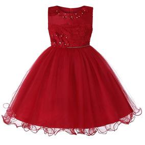 e109c0c862 Vestido Rojo De Fiesta Debajo De La Rodilla Ninas - Vestidos en ...