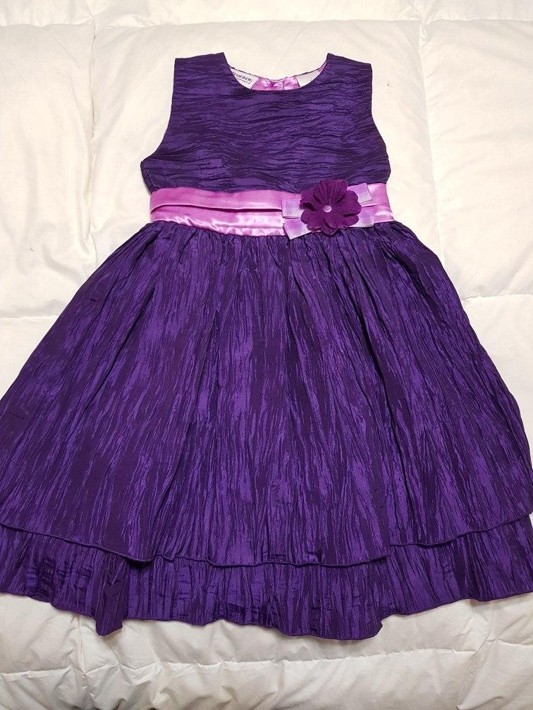 Vestido De Fiesta Para Niña Talle 5 Americano Violeta - $ 1.400,00 ...