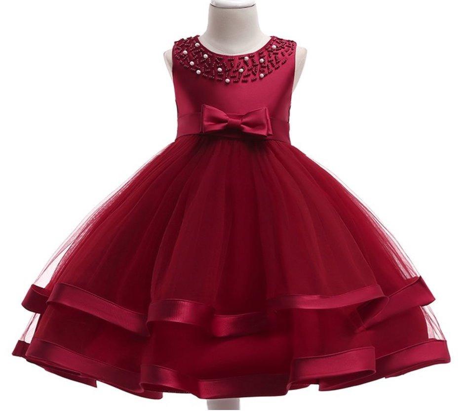 7d6f5689a vestido de fiesta para niña vestido niña color vino guinda. Cargando zoom.