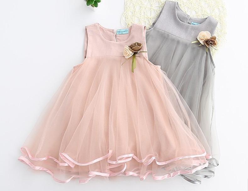 Vestido De Fiesta Para Niñas - S/ 100,00 en Mercado Libre