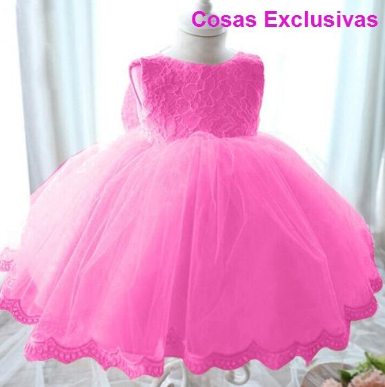 Vestido De Fiesta Para Niñas Con Encaje Y Tull - $ 20.990 en Mercado ...