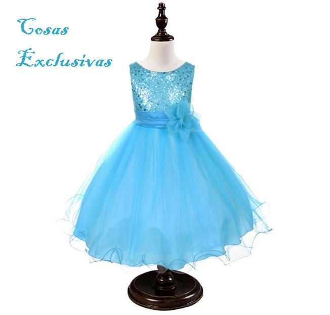 79d991bf Vestido De Fiesta Para Niñas Con Lentejuelas - $ 19.990 en Mercado Libre