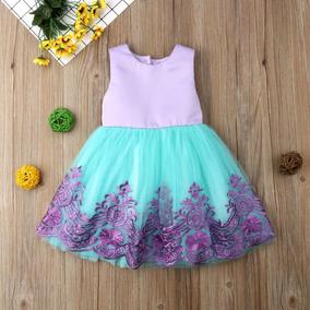 Vestido De Fiesta Para Niñas Y Bebés Estilo La Sirenita Tutú