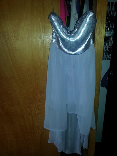 vestido de fiesta plata marca biography