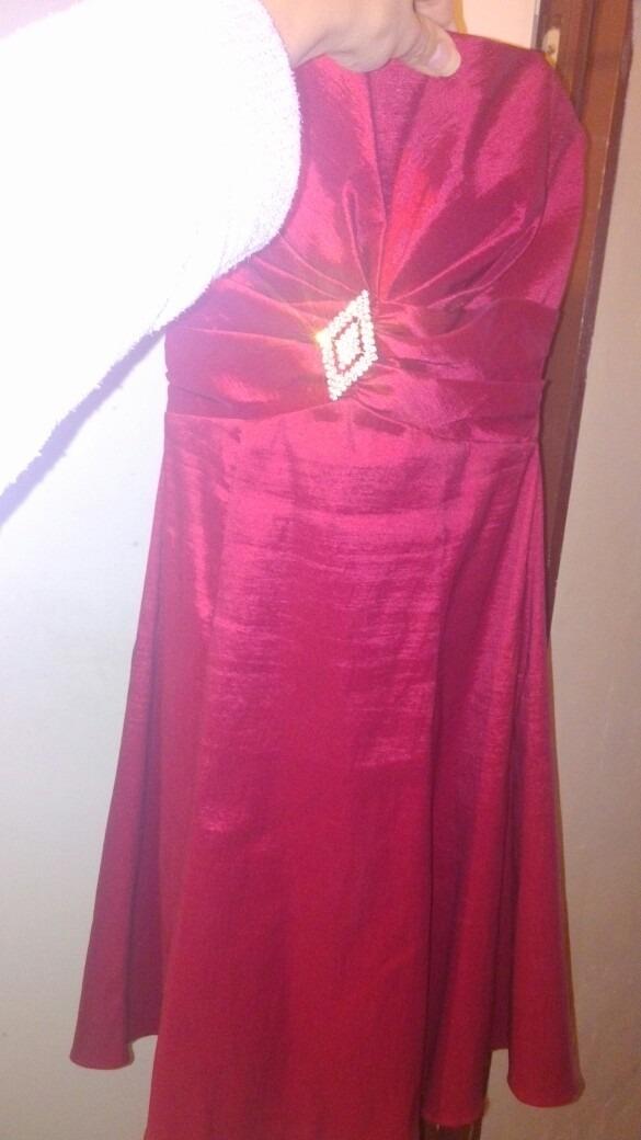 Vestido De Fiesta Rojo Bordo Talle M De Tits - $ 1.400,00 en Mercado ...