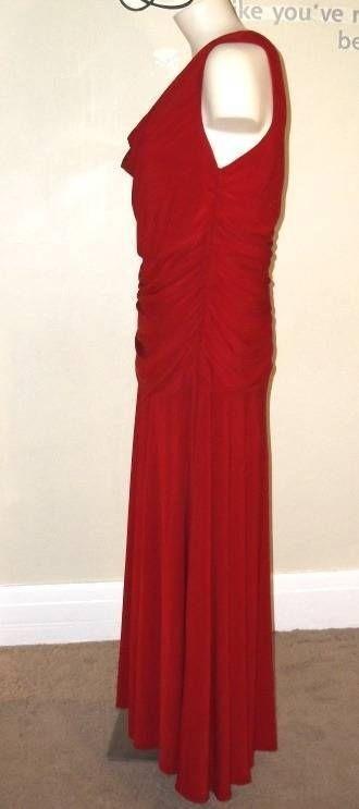 Rojo Vestido chico Marca De Dressbarn 4 Talla Fiesta 8EwEqr