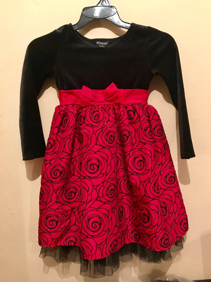 Vestido rojo con negro para nina