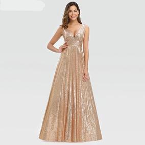 Vestido De Fiesta Rose Gold