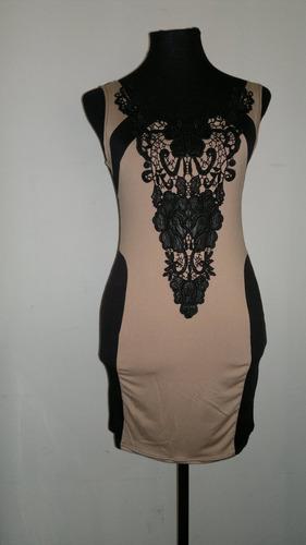 vestido de fiesta sexy en contraste con bordado importado!!