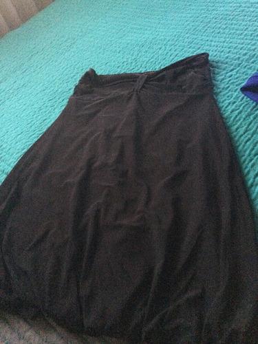 vestido de fiesta strapless negro