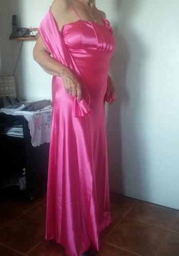 vestido de fiesta talle 46/48 en razo fino