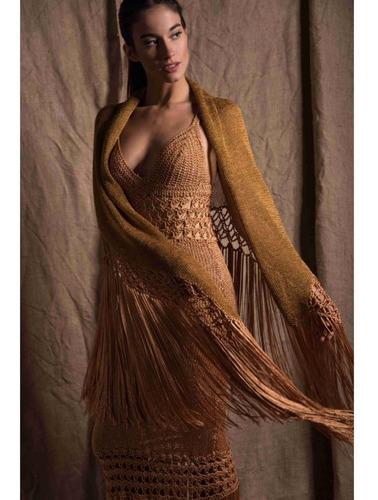 vestido de fiesta tejido