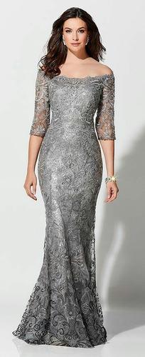 vestido de fiesta tela brocado lentejuelas
