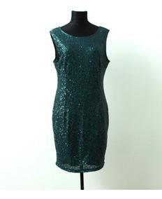 94851d9ece30 Vestido De Fiesta Verde Con Lentejuelas Neu Look - Envios