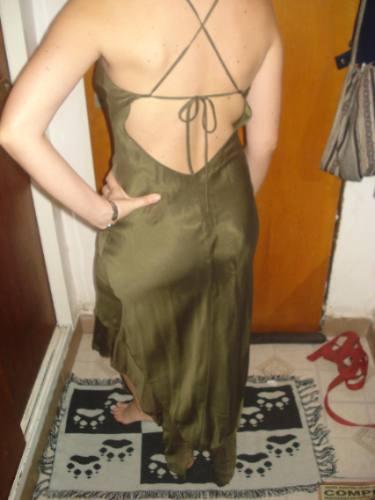 Vestido color verde seco
