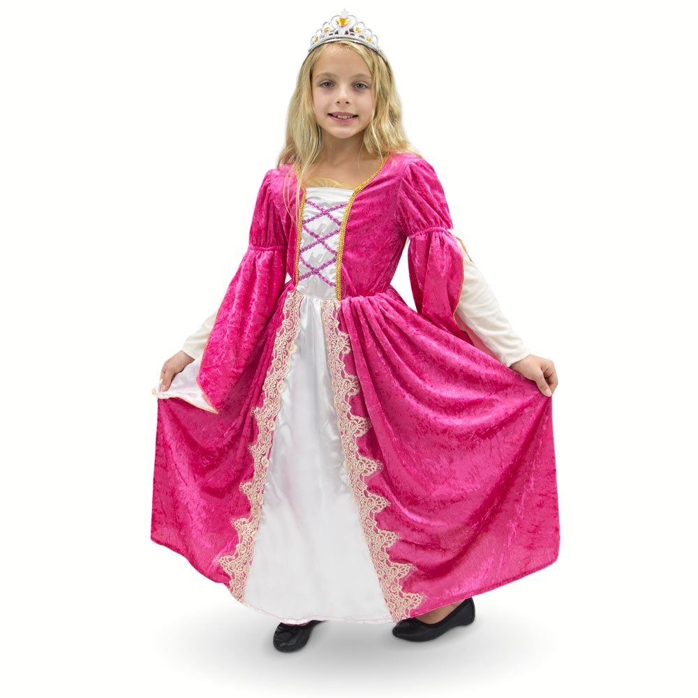 Vestido De Fiesta Victoriano De Princesa Reina Rosa Rosa Di ...
