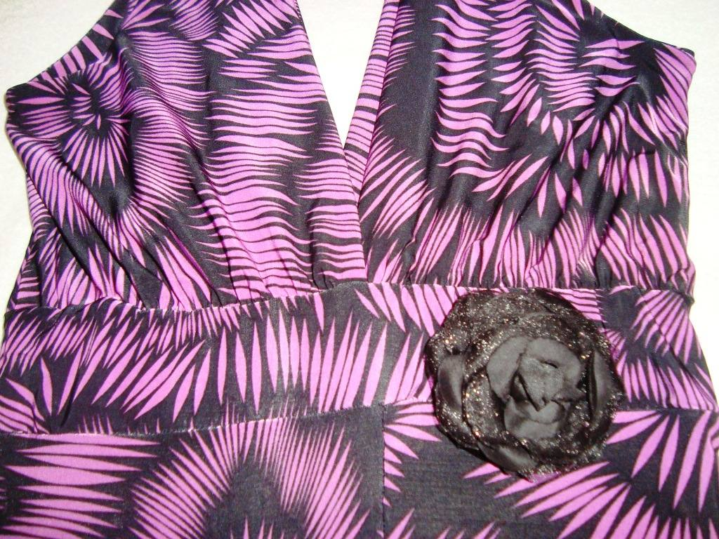 Vestido De Fiesta Violeta Y Negro Elegante - $ 700,00 en Mercado Libre