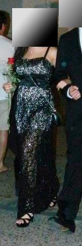 vestido de fiesta/recepción/casamiento con torerita.