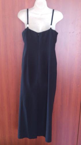 vestido de fiestas americano negro talla s liquido...!!!!