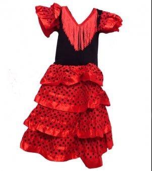 Niña Oferta Flamenco Española De Importado Vestido Sevillana QxhCosrtdB
