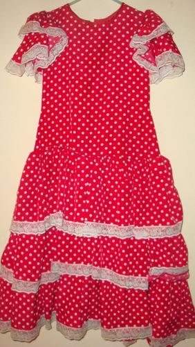vestido de flamenco para niña talla 8-10