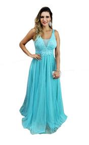 4bb80c095d1d Vestido Azul Tiffany Maravilhoso - Vestidos Femeninos Longo com o ...