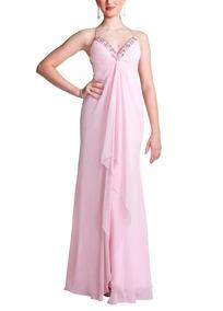 ee6270383 Vestido De Formatura Rosa Pedraria - Vestidos Longos Femininas no ...