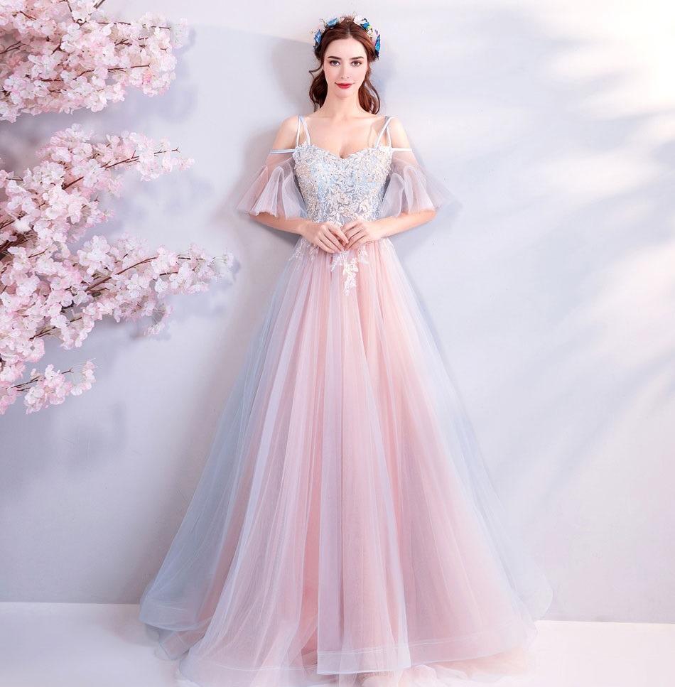 9cddf1aa0 Vestido De Formatura Rosa Azul 34 36 38 40 42 44 46 Va00546 - R  999 ...