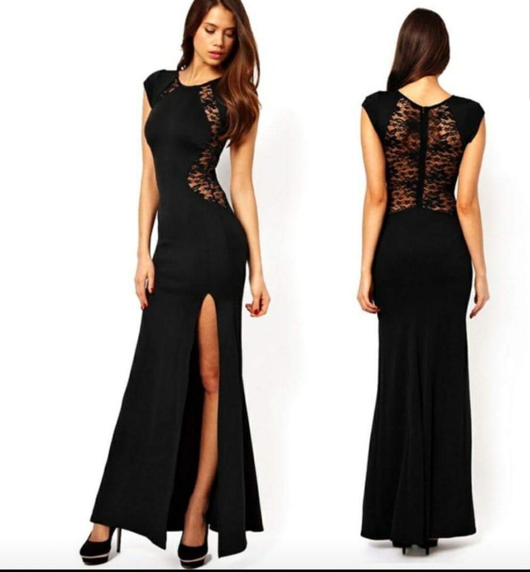 59ebd62a60 Vestido De Gala Color Negro -   28.990 en Mercado Libre