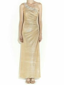 De Vestido Liz Dorado Minelli Gala PnOkw80