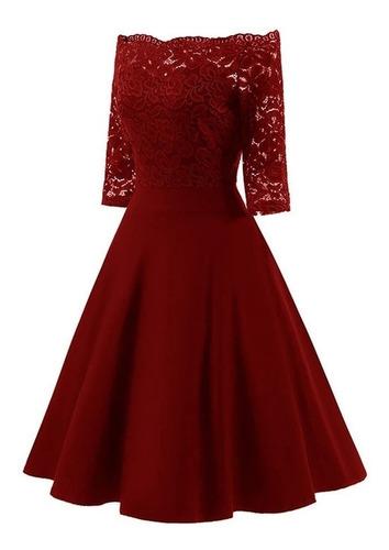 vestido de gala, fiesta, corto sin hombros tallas grandes