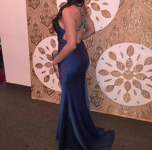 vestido de gala fiesta elegante