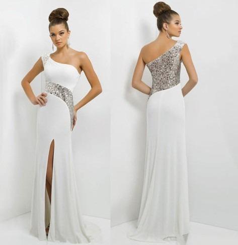 vestido de gala largo con strass para dama (por encargue)