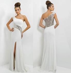 ahorrar 8a474 d3fd9 Vestido De Gala Largo Con Strass Para Dama (por Encargue)