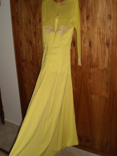 vestido de gala largo talla m,  amarillo